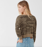 Splendid Thermal Camo Sweatshirt