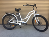 "Voltaic 500W Cruiser Step Thru 26"" Electric Bike White"