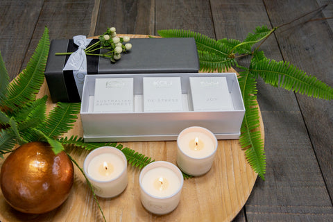 AROMATHERAPY ESSENTIALS CANDLE TRIO