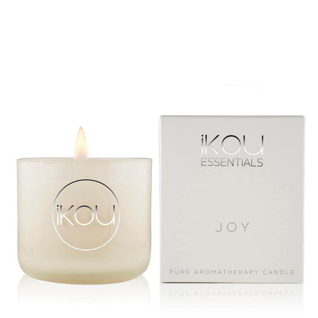 ESSENTIALS SMALL CANDLE GLASS JOY
