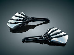 Skeleton Hand Mirrors Chrome Head with Black Stem (pr)  $112.99