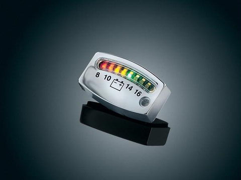 L.E.D. BATTERY GAUGE, CHROME  $44.99