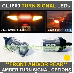 GL1800/F6B - FRONT & REAR AMBER TURN SIGNAL LEDs $115.00