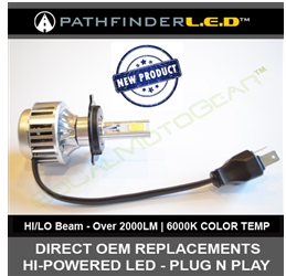 H4 (HI/LO - LED) HEADLAMP BULB REPLACEMENT 2000LM - PLUG N PLAY $64.95