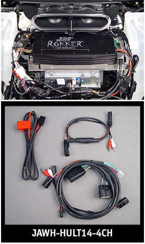 ROKKER® XT 4-CH Wire Harness Kit (only) 2014-15 Harley Ultra/Ltd.  $299.99