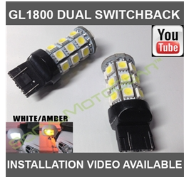 GL1800/F6B SWITCHBACK LED TURN SIGNAL BULBS (WHITE/AMBER) $55.00