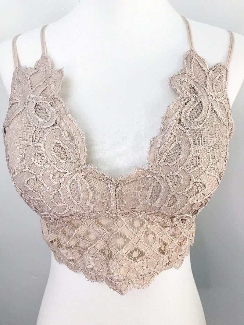 Anemone Dreamy Crochet Lace Bralette Phoenix and Willow
