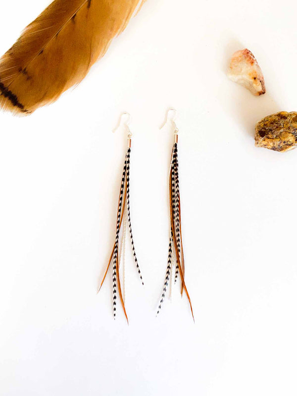 Astali Mini Feather Earrings | Phoenix + Willow