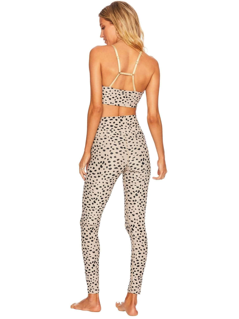 Beach Riot Ribbed Ayla Full Length Legging Taupe Spot Phoenix and Willow