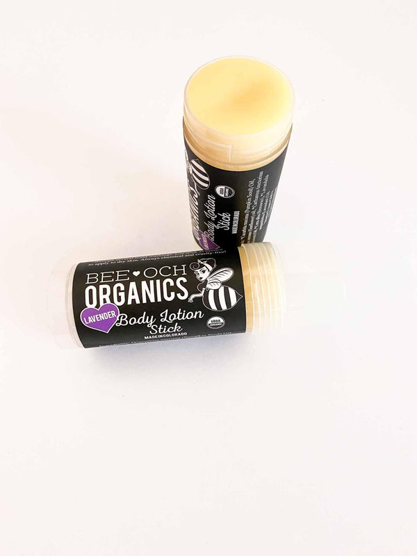 BEE-OCH USDA Organic Body Lotion Stick Lavender Scent | Phoenix + Willow