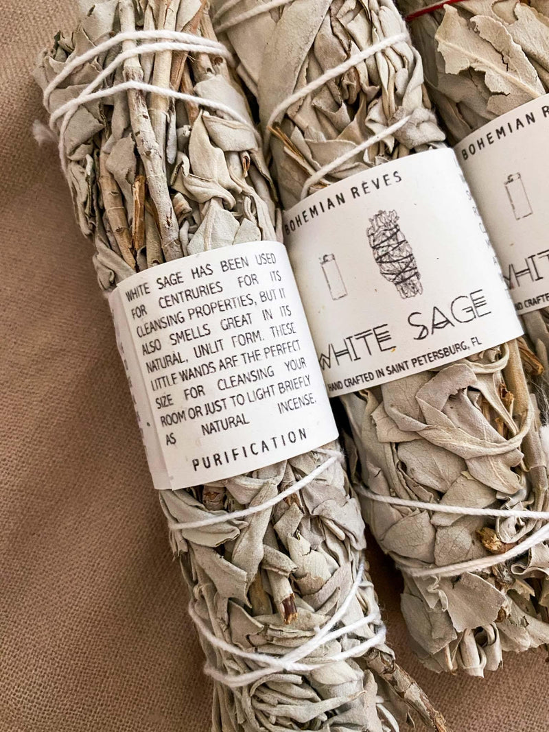 Bohemian Rêves White Sage Smudge Bundle Phoenix and Willow