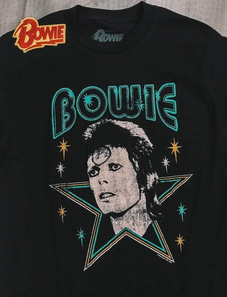 David Bowie David Bowie Stars Classic 80s Rock T-shirt Phoenix and Willow