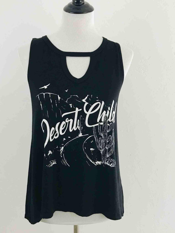 Desert Child Black Sleeveless Graphic T-shirt | Phoenix + Willow