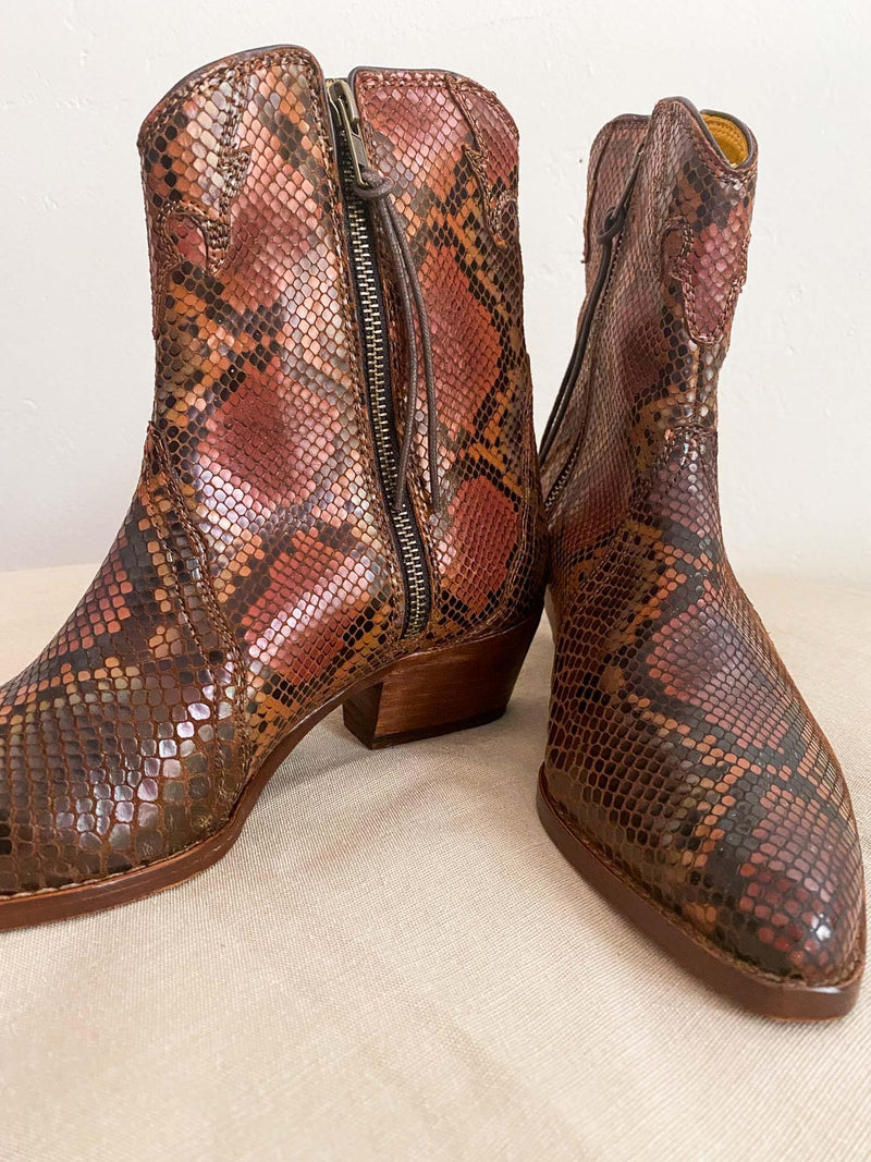 Free People Free People New Frontier Western Snake Print Boot Phoenix and Willow