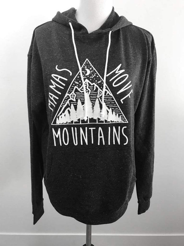 Free the Mother Mamas Move Mountains Black Hoodie Phoenix and Willow