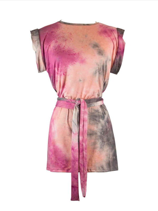 Jennafer Grace Opal Tie Dye Tunic with Tie | Phoenix + Willow