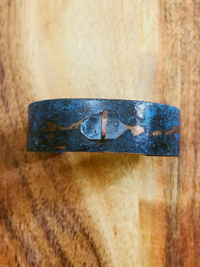 MetaMorph Crystal Cave Patina Cuff Bracelet Phoenix and Willow