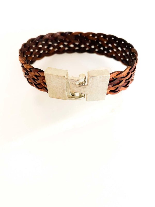 MetaMorph Woven Leather Cuff Bracelet | Phoenix + Willow