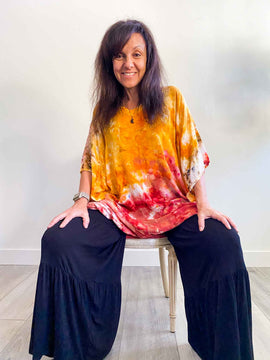 Ice Dyed Tunic Tops