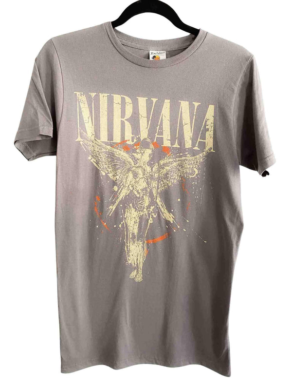 Nirvana Galaxy In Utero 90s Rock Gray T-shirt | Phoenix + Willow