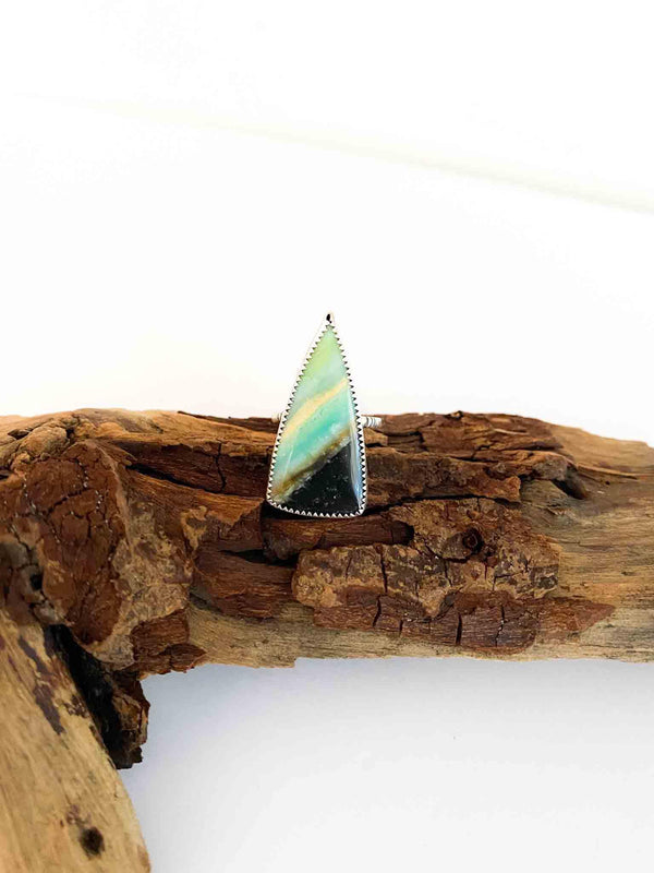 Indonesian Wood Opal Sterling Silver Ring by Ouroboros Designs | Phoenix + Willow