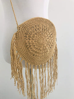 Phoenix + Willow Boho Babe Fringe Crochet Crossbody Phoenix and Willow