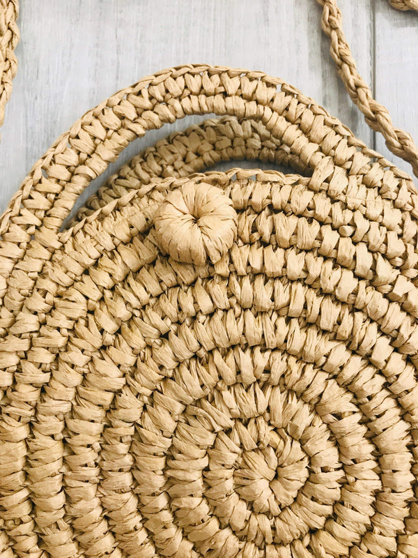 Phoenix + Willow Handwoven Straw Boho Style Bag Phoenix and Willow