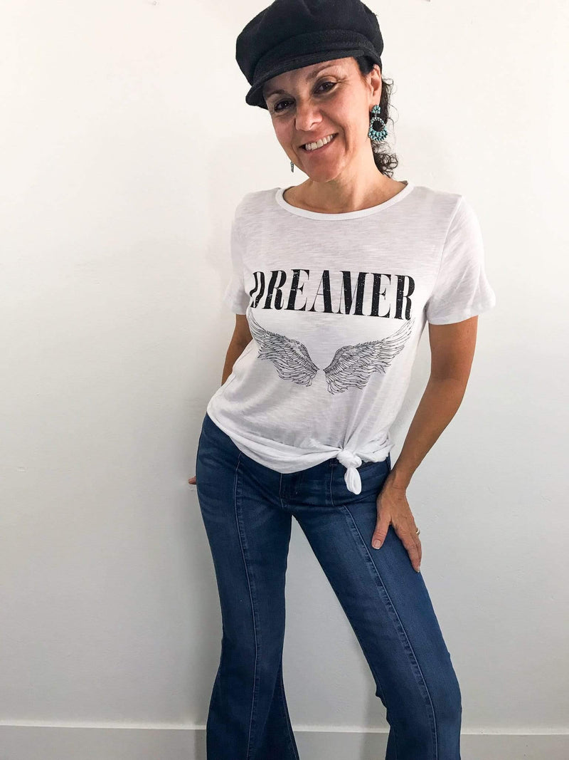 Dreamer Vintage Inspired White Graphic T-shirt | Phoenix + Willow