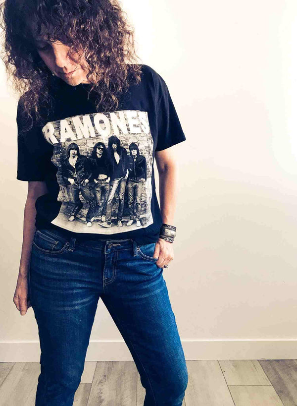 Ramones Vintage Punk Rock Black T-shirt | Phoenix + Willow