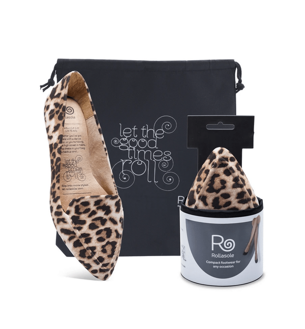 Rollasole Into the Wild Leopard Print Flats Phoenix and Willow