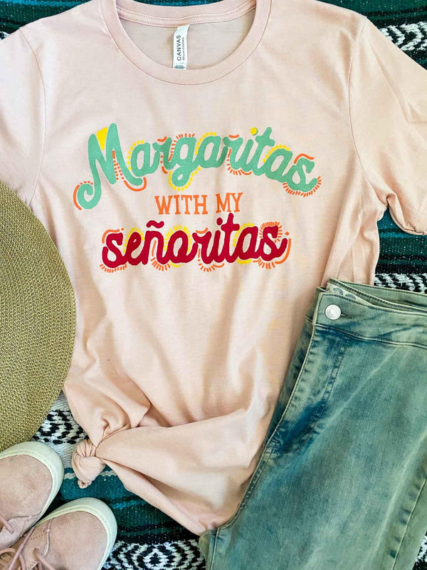 Margaritas With My Senoritas Pink Graphic T-Shirt | Phoenix + Willow