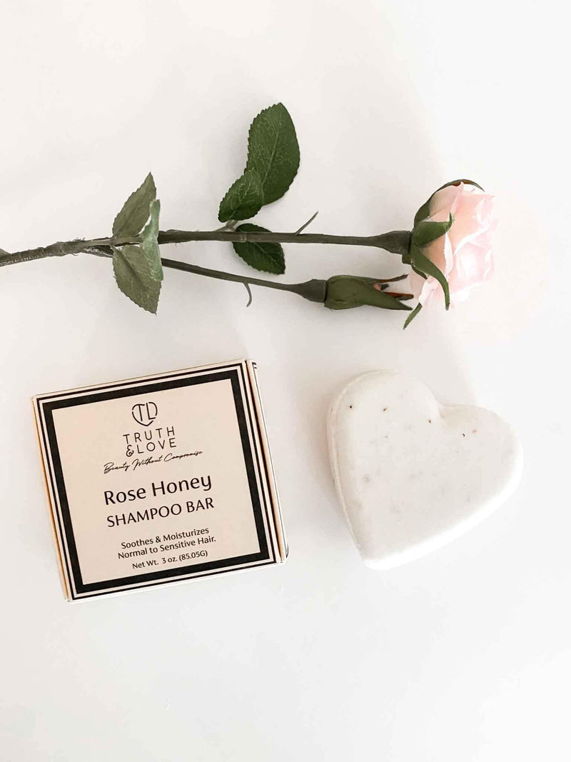 Truth & Love Beauty Eco-Friendly Moisturizing Rose Honey Shampoo Bar | Phoenix + Willow
