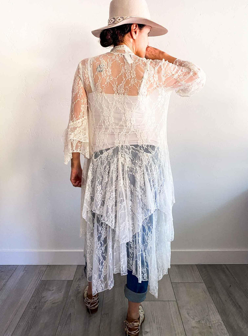 Sister of the Moon Lace Bohemian Kimono | Phoenix and Willow