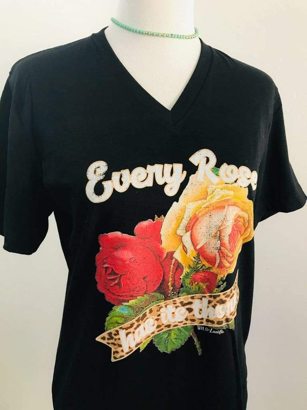 Wild Lucille Apparel Every Rose Has Its Thorn Poison-Inspired T-Shirt Phoenix and Willow