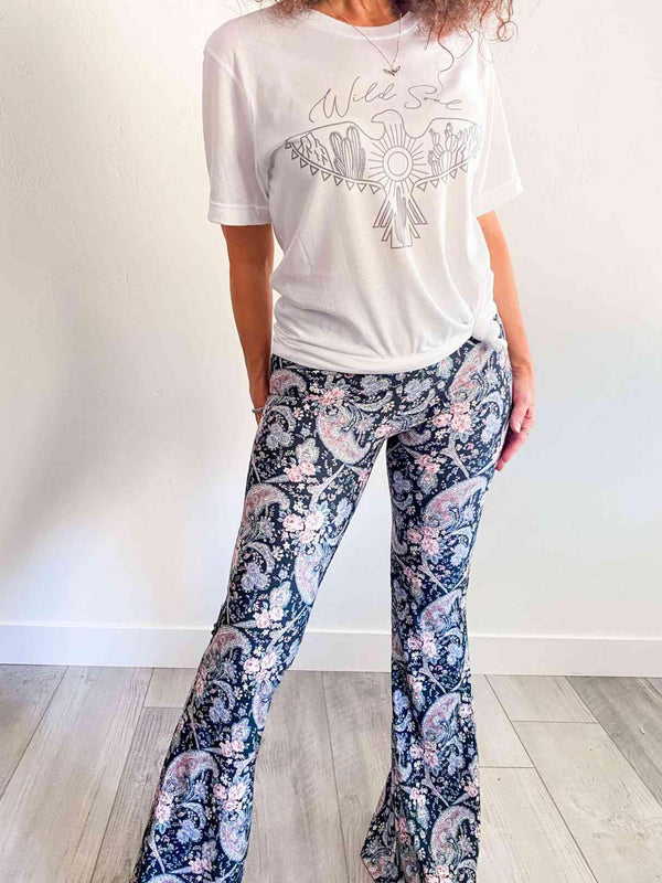 Rockledge Designs Wild Soul Boho Style White Graphic Tee Phoenix and Willow