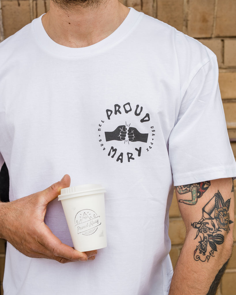 Fist Bump Tee - Proud Mary Coffee Melbourne