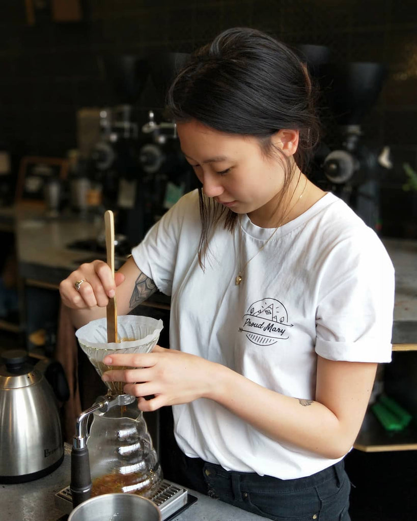 PMC Tee - White Short Sleeve - Proud Mary Coffee Melbourne