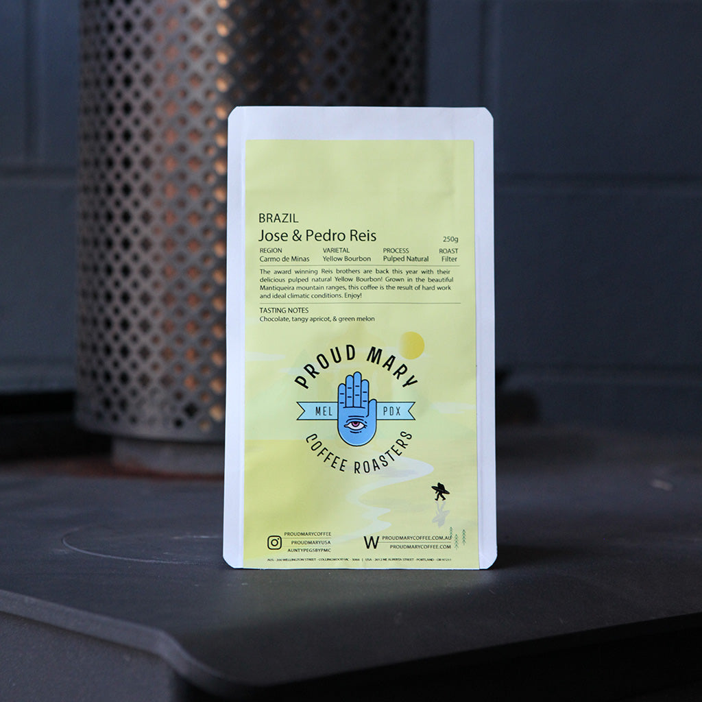 Brazil | Jose & Pedro Reis | Yellow Bourbon | Pulped Natural | Filter | 250g - Proud Mary Coffee Melbourne