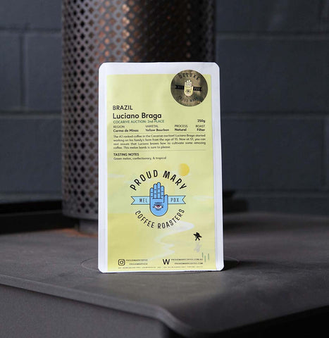 Brazil | Luciano Braga - #2 Cocarive Auction | Yellow Bourbon | Natural | Filter | 250g