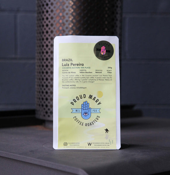 Brazil | Luiz Periera - #10 Cocarive Auction | Yellow Bourbon | Natural | Filter | 250g - Proud Mary Coffee Melbourne