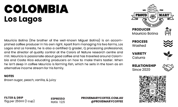 Colombia | Los Lagos | Caturra | Washed | Filter | 250g