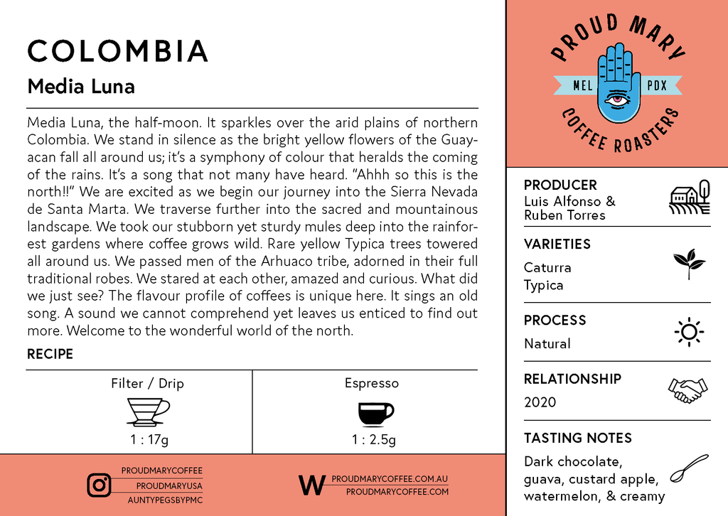 Colombia | Media Luna | Caturra & Typica | Natural | Filter | 250g