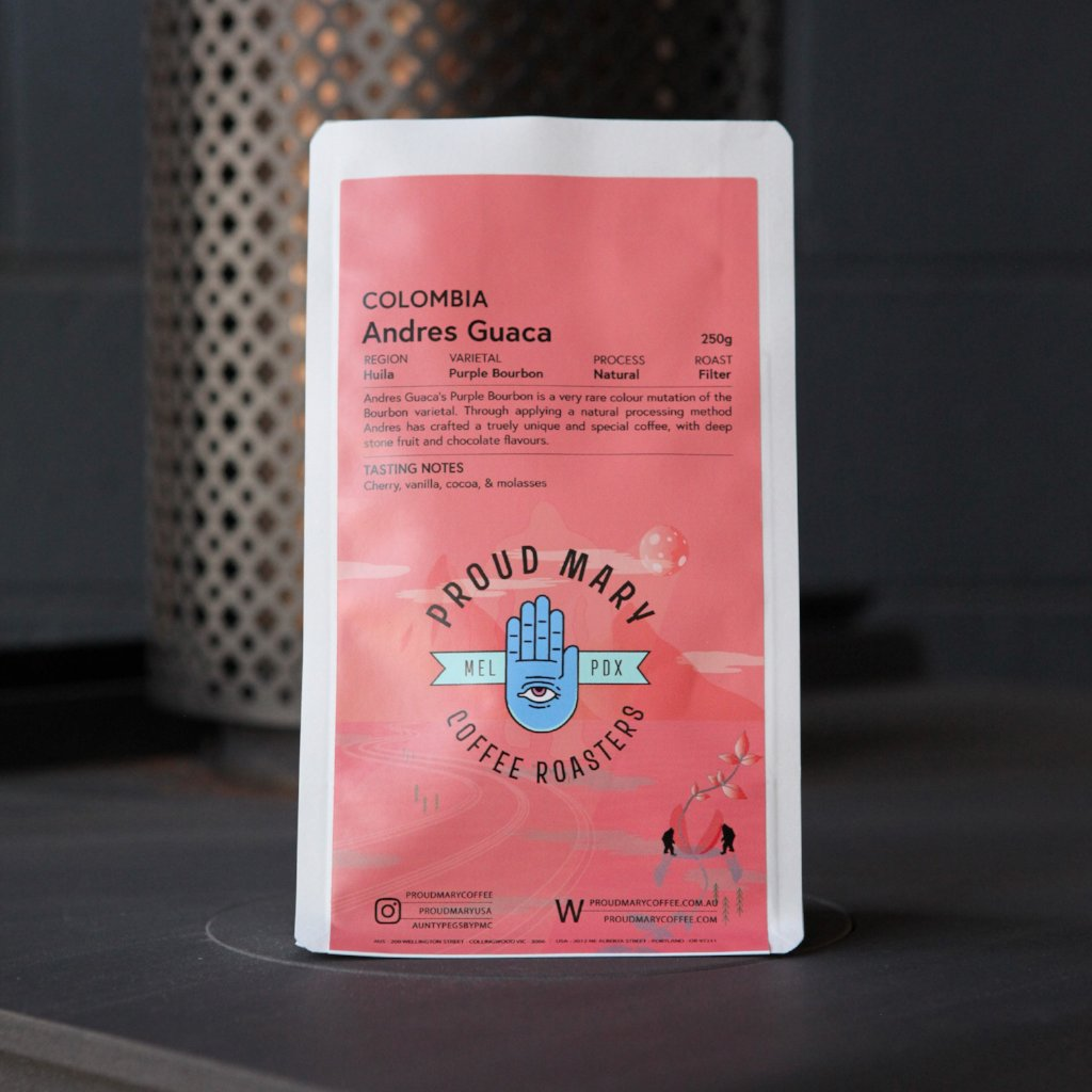 Colombia | Andres Guaca | Purple Bourbon | Natural | Filter | 250g - Proud Mary Coffee Melbourne