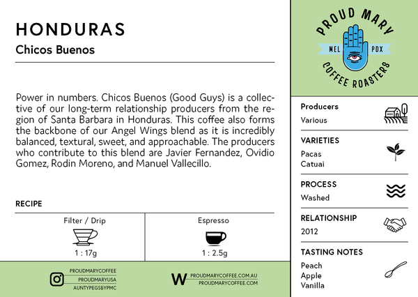 Honduras | Chicos Buenos | Pacas & Catuai | Washed | Filter | 250g