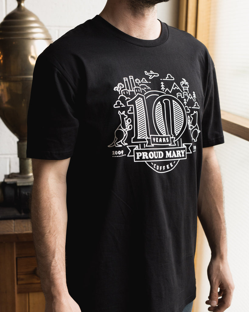 10 Year Anniversary Tee - Proud Mary Coffee Melbourne