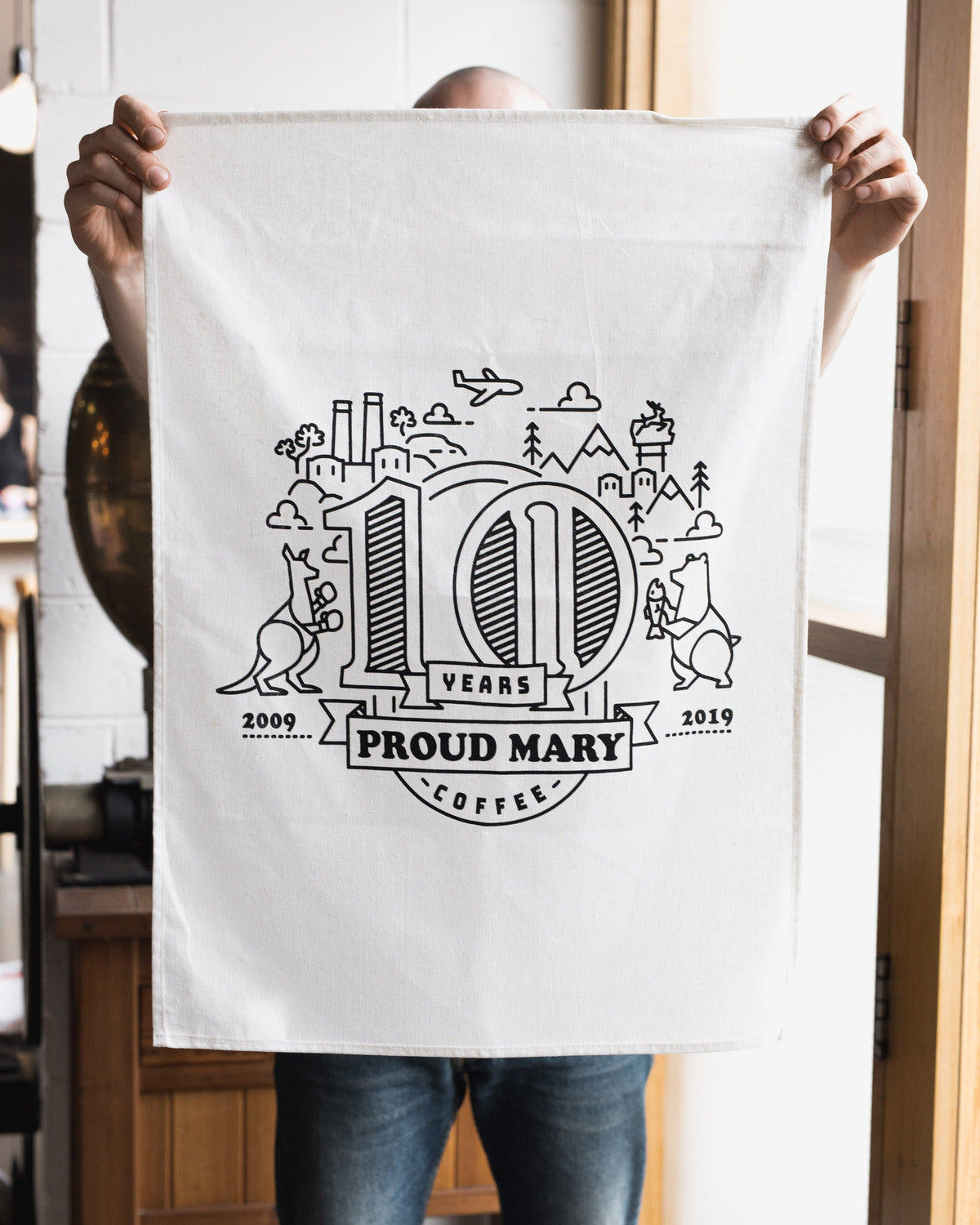 10 Year Anniversary Tea Towel - Proud Mary Coffee Melbourne