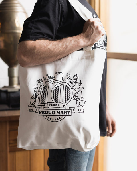 10 Year Anniversary Tote - Proud Mary Coffee Melbourne