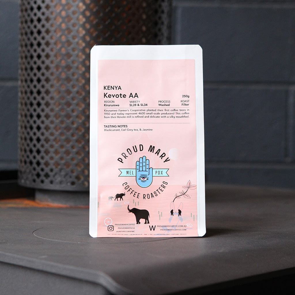 Kenya | Kevote AA | SL28, SL34, Ruiru 11, & Batian | Washed | Filter | 250g - Proud Mary Coffee Melbourne