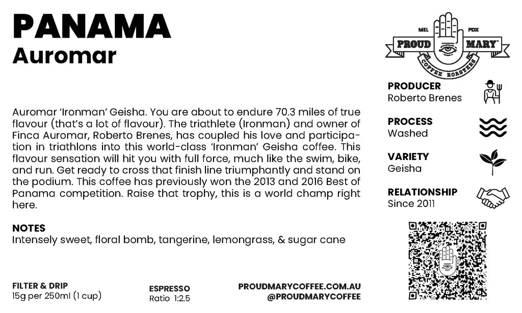 Panama | Auromar | Geisha | Washed | Filter | 100g