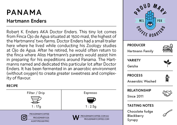 Panama | Hartmann Enders | Geisha | Anaerobic Washed | Filter | 100g